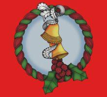Holly Wreath 2 Kids Tee