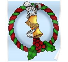 Holly Wreath 2 Poster