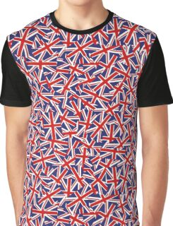 Union Jack Inspired Pattern Graphic T-Shirt