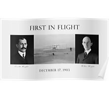 First In Flight - The Wright Brothers Poster