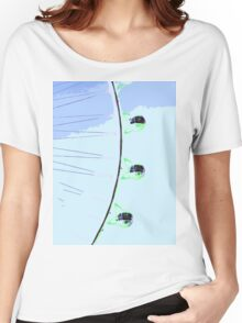 green ferris wheel with blue sky  Women's Relaxed Fit T-Shirt