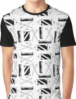 Barber Pattern Graphic T-Shirt