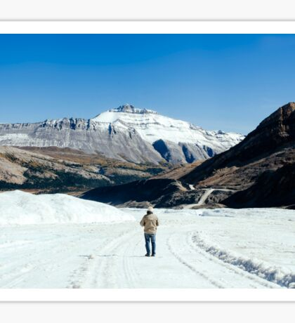 Man Vs Glacier Sticker