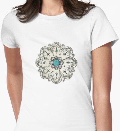Pen sketch mandala Womens Fitted T-Shirt