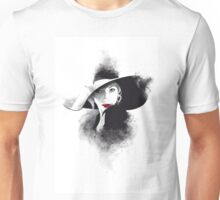 The hat, girl portrait Unisex T-Shirt