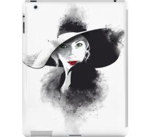 The hat, girl portrait iPad Case/Skin