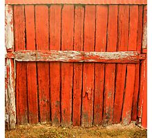 Red and Rustic Photographic Print