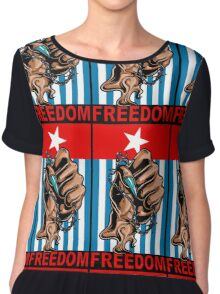 Freedom West Papua Morning Star Flag Women's Chiffon Top