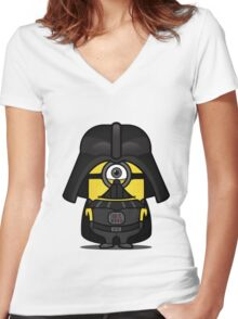 Mini IN Vader Women's Fitted V-Neck T-Shirt