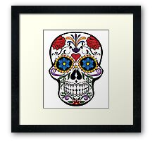 Red Roses and Heart Cranium Tattoo Art Framed Print