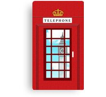 England Classic British Telephone Box Minimalist Canvas Print