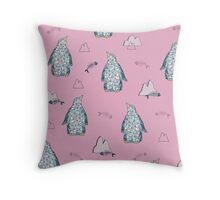 Cute penguins Throw Pillow