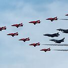 The present and the future, the RAF at Fairford, Gloucestershire, England by Cliff Williams