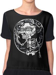 skull glasses Chiffon Top