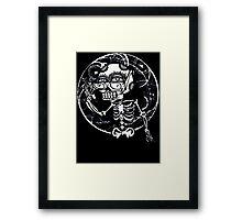 skull glasses Framed Print