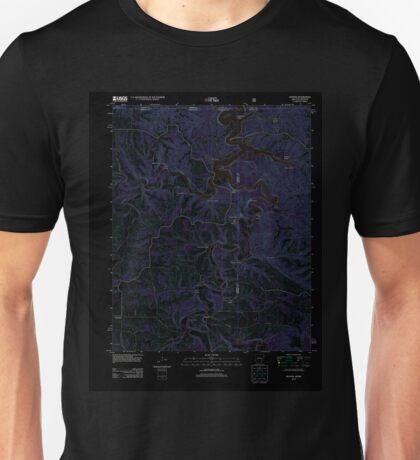 USGS TOPO Map Arkansas AR Denver 20120105 TM Inverted Unisex T-Shirt