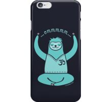 Om Yoga Sloth - blue iPhone Case/Skin