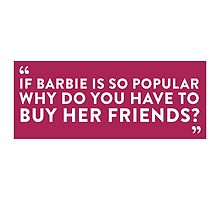 Buying Barbie Friends by artpolitic