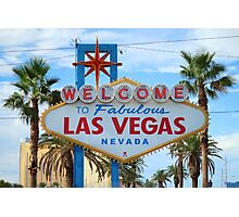 Welcome to Fabulous Las Vegas! Photographic Print