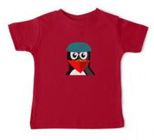 Crook Penguin Artwork for Black hat Coders and Nerds  Baby Tee