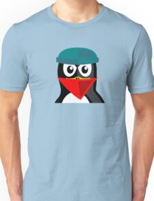 Crook Penguin Artwork for Black hat Coders and Nerds  Unisex T-Shirt