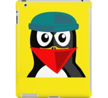 Crook Penguin Artwork for Black hat Coders and Nerds  iPad Case/Skin
