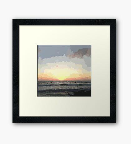 Pastel Sky: Ocean Sunset Framed Print