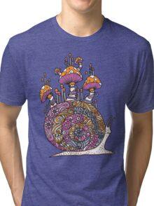 Mushroom Snail Tri-blend T-Shirt