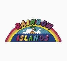 Rainbow Islands Title Kids Tee