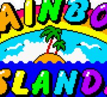 Rainbow Islands Title Sticker