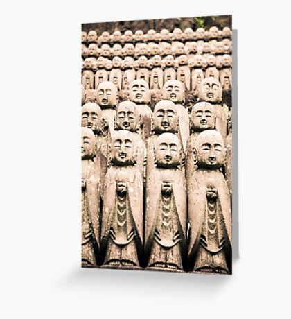 Buddha Statues at Hase-Dera Temple, Kamakura, Japan Greeting Card