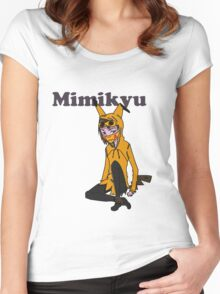 The Lonely Teenage Mimikyu Women's Fitted Scoop T-Shirt