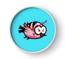 Tired Cute Bird Clock