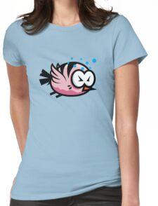 Tired Cute Bird Womens Fitted T-Shirt