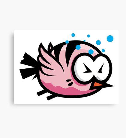 Tired Cute Bird Canvas Print