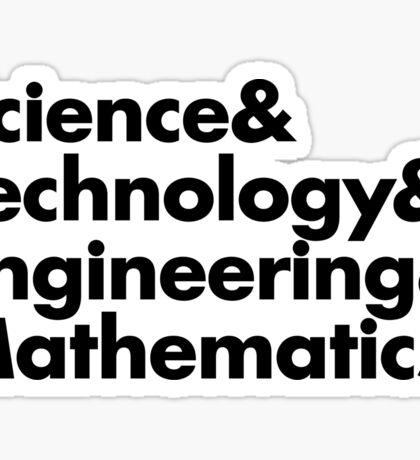 STEM, science, technology, engineering, mathematics, women in stem Sticker