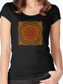 Mosaic Squared Women's Fitted Scoop T-Shirt