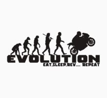 Biker Evolution T-Shirts and Hoodies by outlawalien