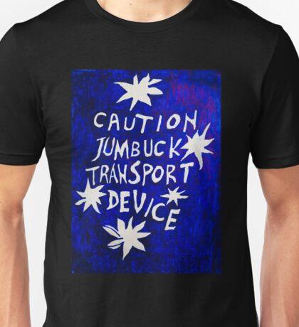 Caution Jumbuck Transport Device - Blue Unisex T-Shirt