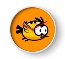Cute Yellow Bird Flying Clock
