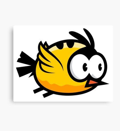 Cute Yellow Bird Flying Canvas Print