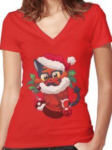 Stocking Stuffer: New Fire Women's Fitted V-Neck T-Shirt