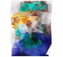 Abstract background of triangles polygon print. Bright design colors Poster