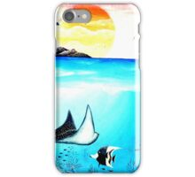 Beautiful Underwater Scene Painting iPhone Case/Skin