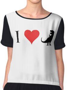I Love Dinosaurs (small) Chiffon Top