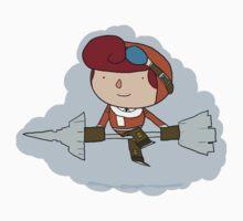 Brawlhalla - Sky Captain Scarlet One Piece - Long Sleeve