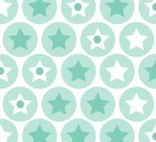 Geometric kids blue circles and stars seamless pattern on white background Sticker