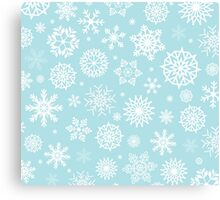 Christmas Snow flakes Canvas Print