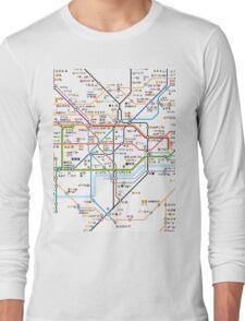 London Underground Tube Map as Emojis Long Sleeve T-Shirt