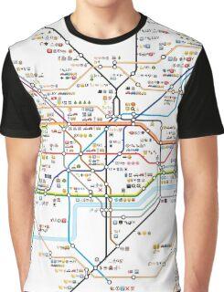 London Underground Tube Map as Emojis Graphic T-Shirt